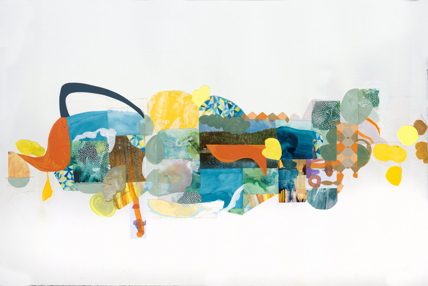 The Lake and the Trees  , mixed media on paper, 2018  (click to enlarge)