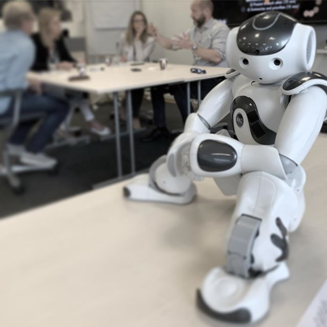 """I went on my first flight this week. Had to be tucked in a backpack but passed security without problems, puh! All my joints were scanned and they looked great. And the workshop went well too. What an awesome team!"" #markusnao #naorobot #softbankrobotics #naorobot"
