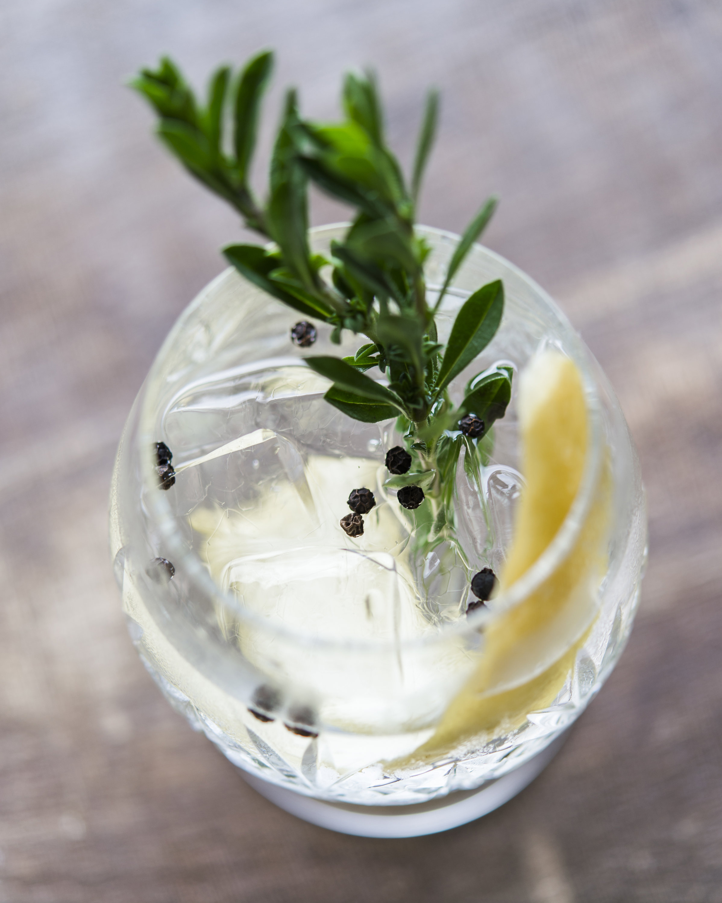 THE REMEDY   fresh tarragon, citrus oils, tonic syrup, charged water, vodka
