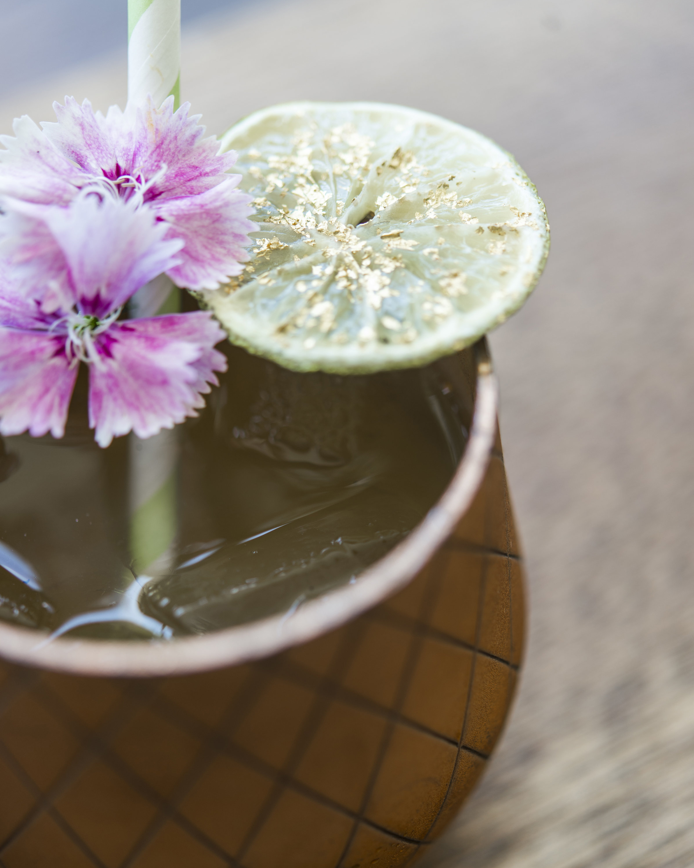 ROAD TO HANA   fresh pressed pineapple and lime, lilikoi, kaffir lime, vodka