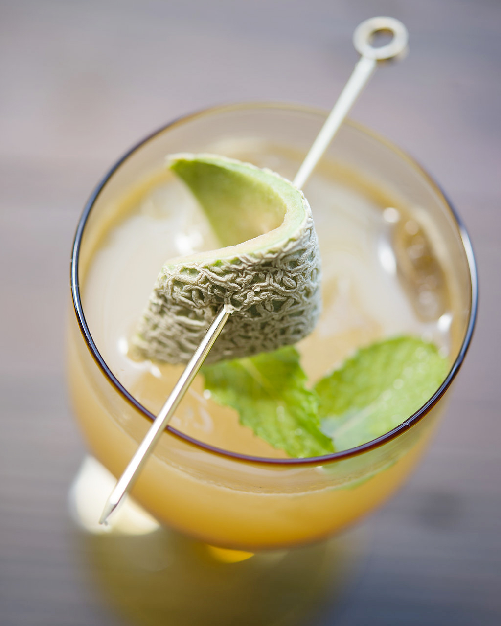 PORCH SWING   fresh pressed cantaloupe and lemon, sweet tea, garden mint, cane sugar, bourbon