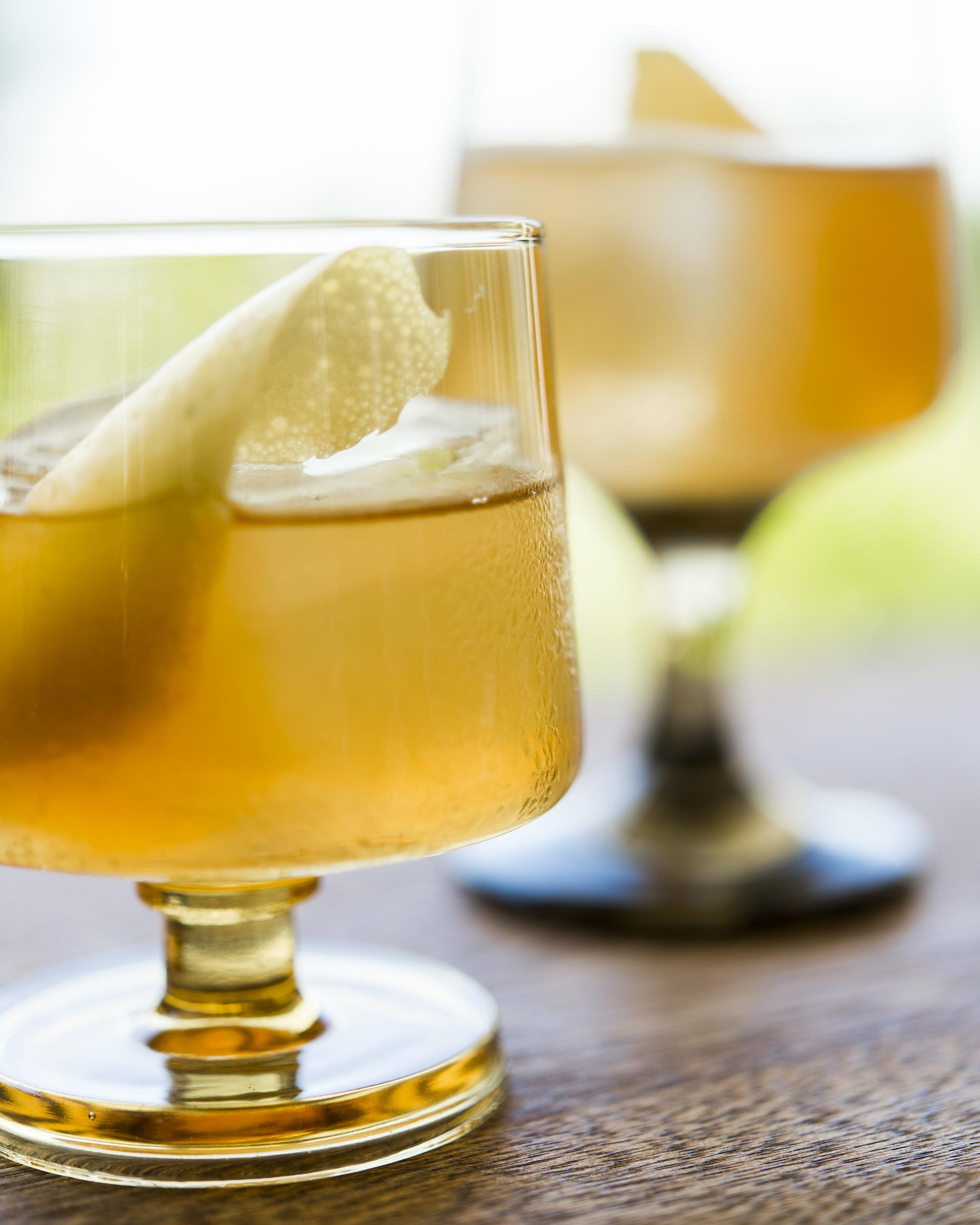 SAMURAI   asian pear, brown sugar, charred cedar bitters, lemon oil, japanese whisky