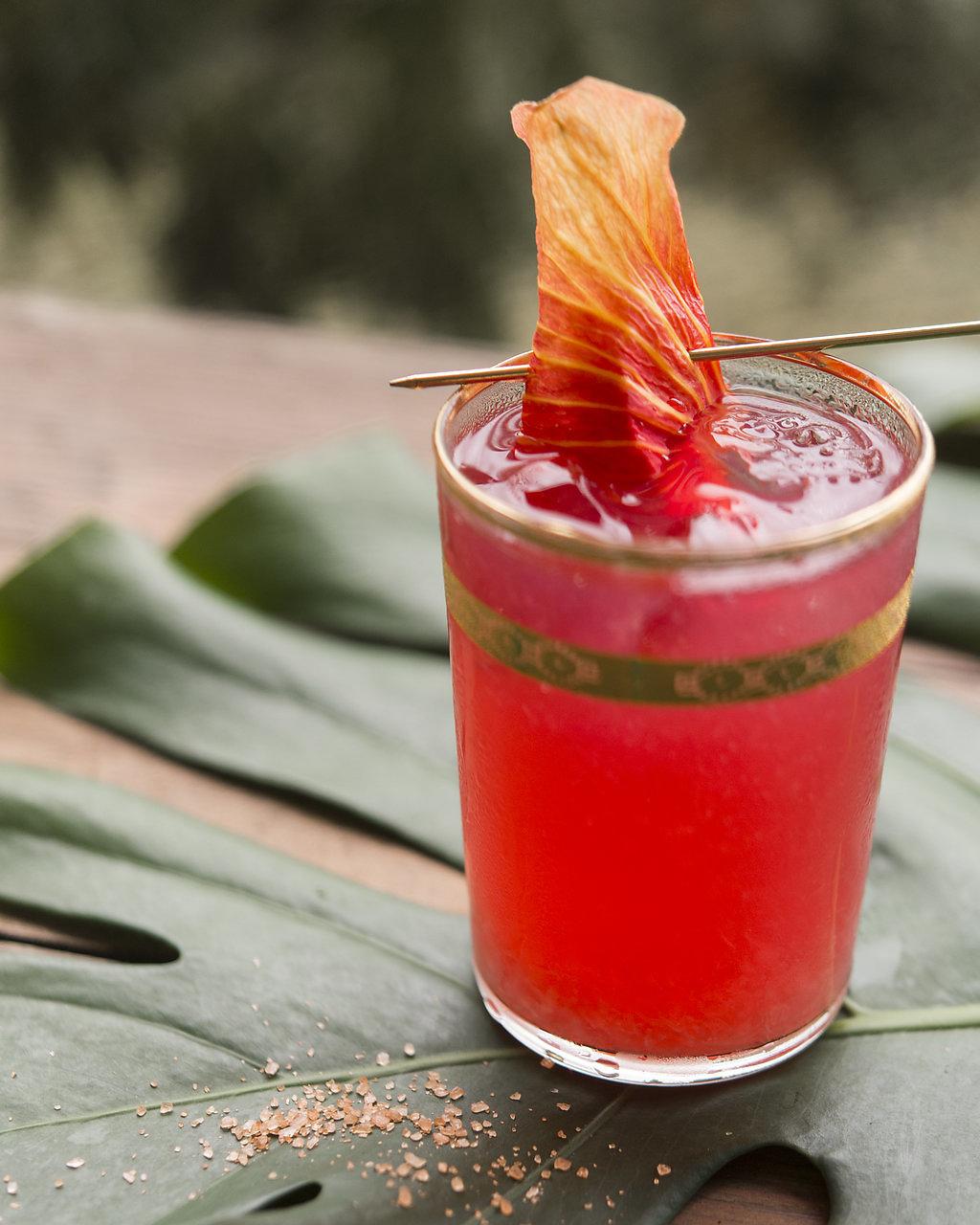 ALO'ALO   fresh pressed lime, house hibiscus syrup, hawaiian sea salt, reposado tequila