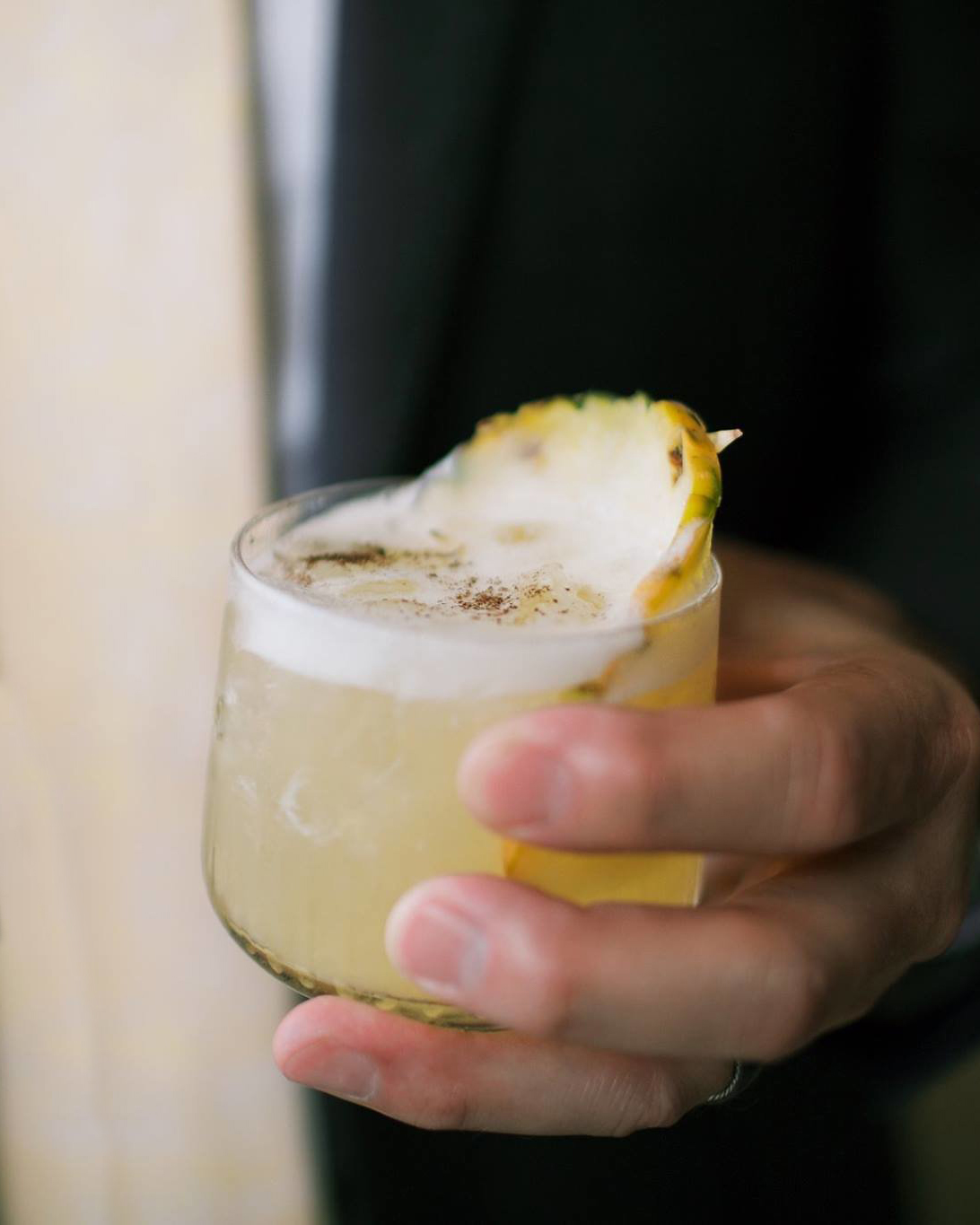 THE GOLDEN ONE   fresh pressed pineapple and lemon, house vanilla syrup,reposado tequila