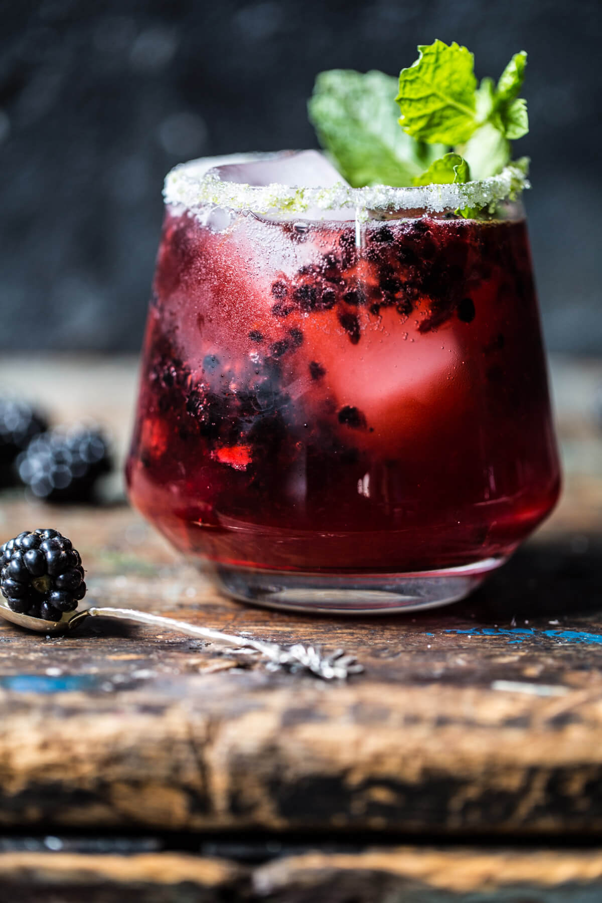 Autumn cocktail:  blackberry bourbon smash !
