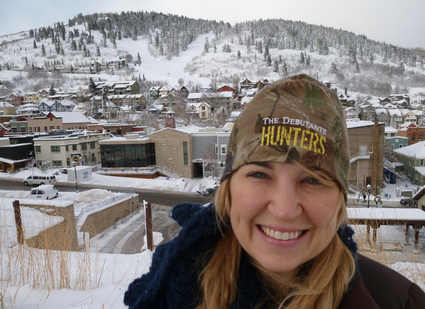 The Debutante Hunters  Producer Kristy Cuthbert of Mt. Pleasant, SC, in Park City, UT.