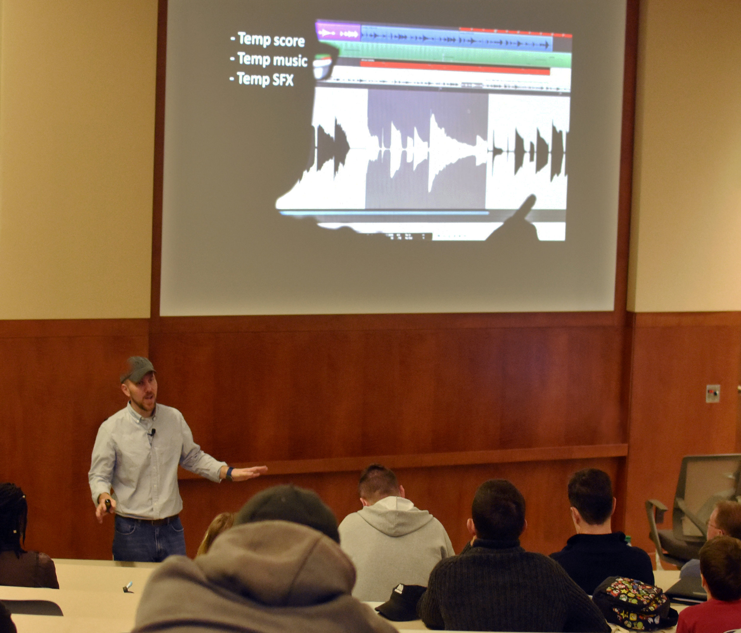 VFX Producer and filmmaker VW Scheich at the Indie Grants'  VFX & Post-Production Pipeline  workshop.