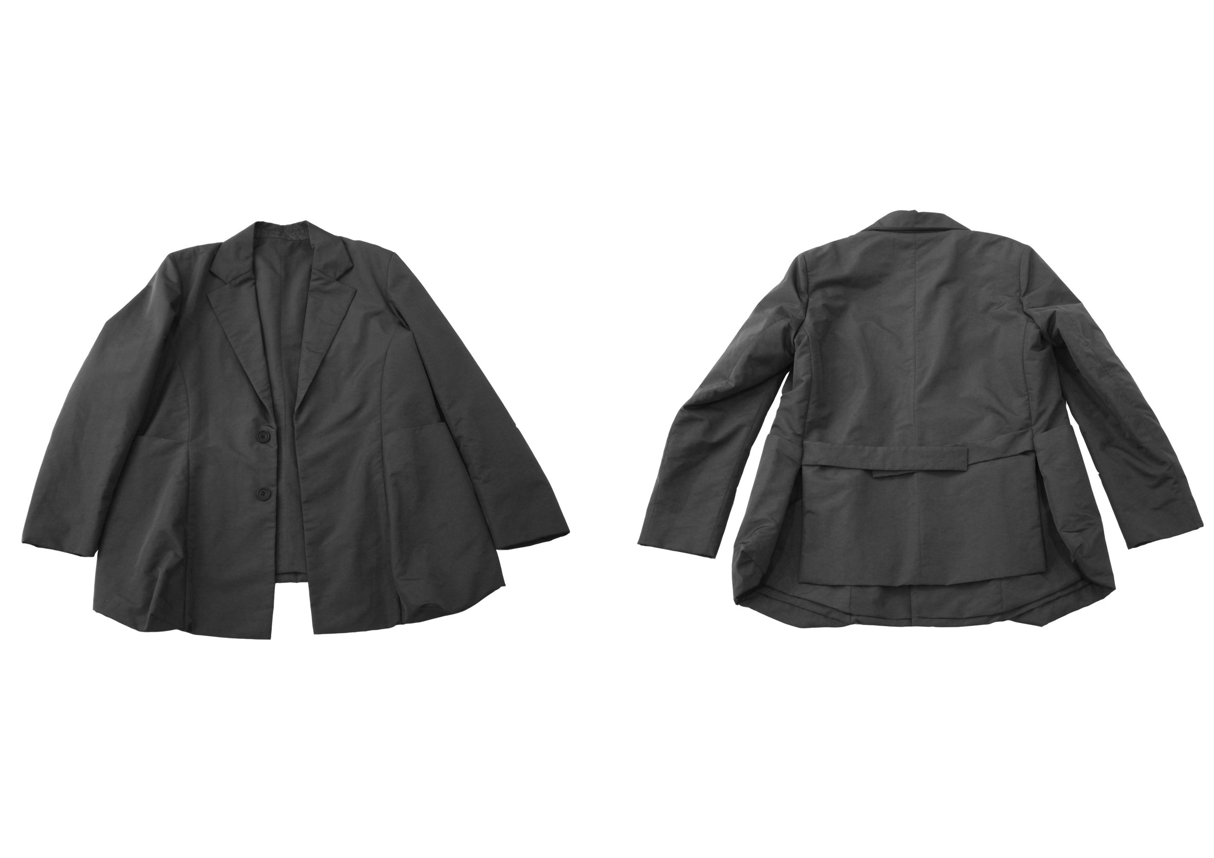 Rainproof Tailoring   Triple Layers System  Side Pockets  Horn Buttons  Composition: 68% Nylon , 32% Terylene  Interlayer: Wool Canvas