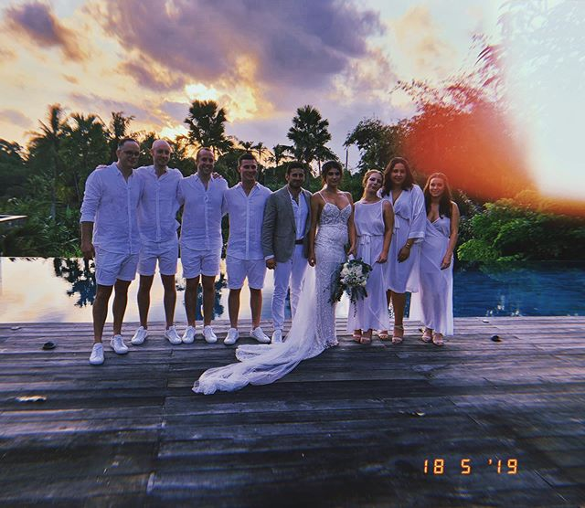 """""""I'm so proud of the person she has become, the life she has chosen for herself and especially the man she has chosen to spend the rest of her life with""""- G 18/05/19  @brittmcnabb @georgemcnabb ❤️ . . . . . #bali #wedding #baliindonesia #mcnabbwedding  #love"""