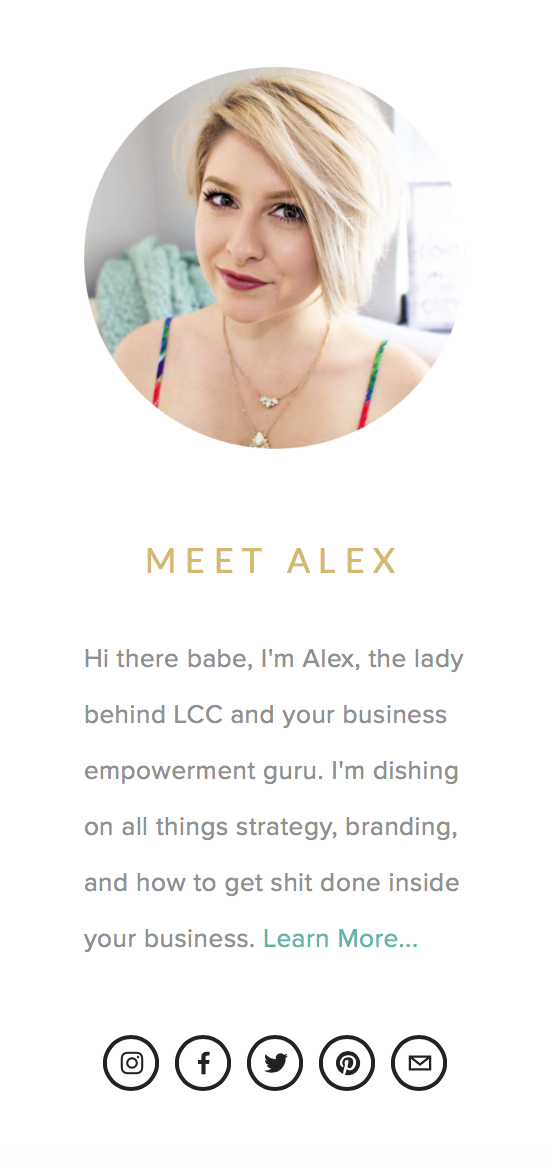 3 parts of an ultra sexy blog sidebar | lady and company creative