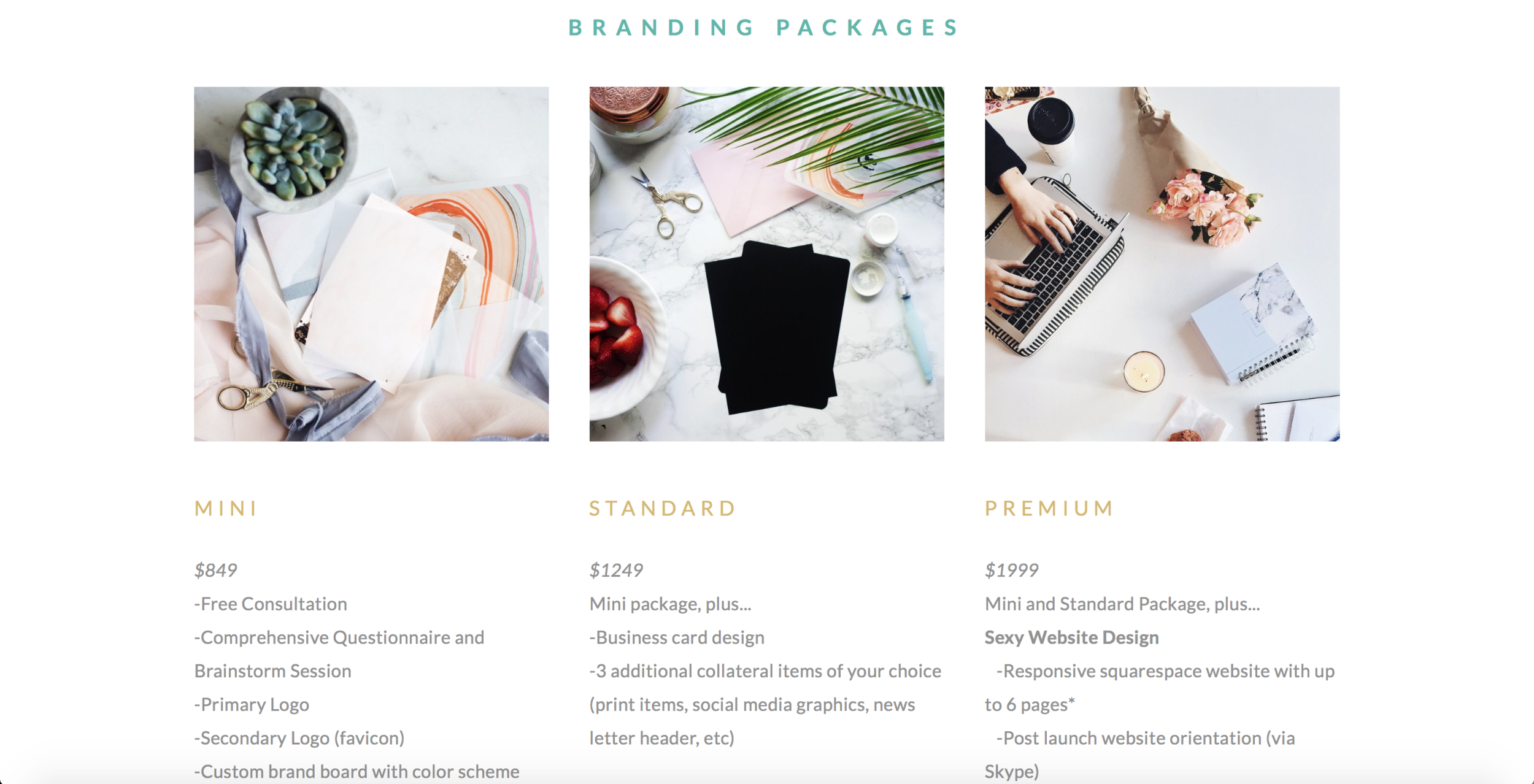 Services/Pricing Page | The 5 Pages Every New Business Website Should Have | Lady and Company