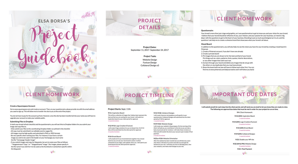 Lady and Company Creative | Client Homework | Project Guidebook