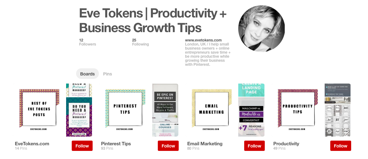 4 Tips to a fabulous pinterest business profile | How to make pinterest work for your business | lady and company creative | branding coach