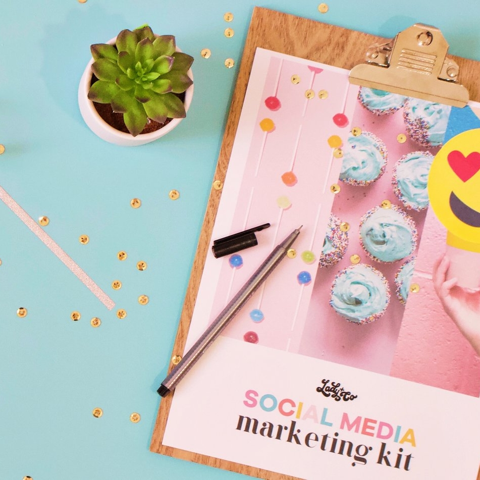social media marketing kit | lady and company creative | branding coach | business visibility