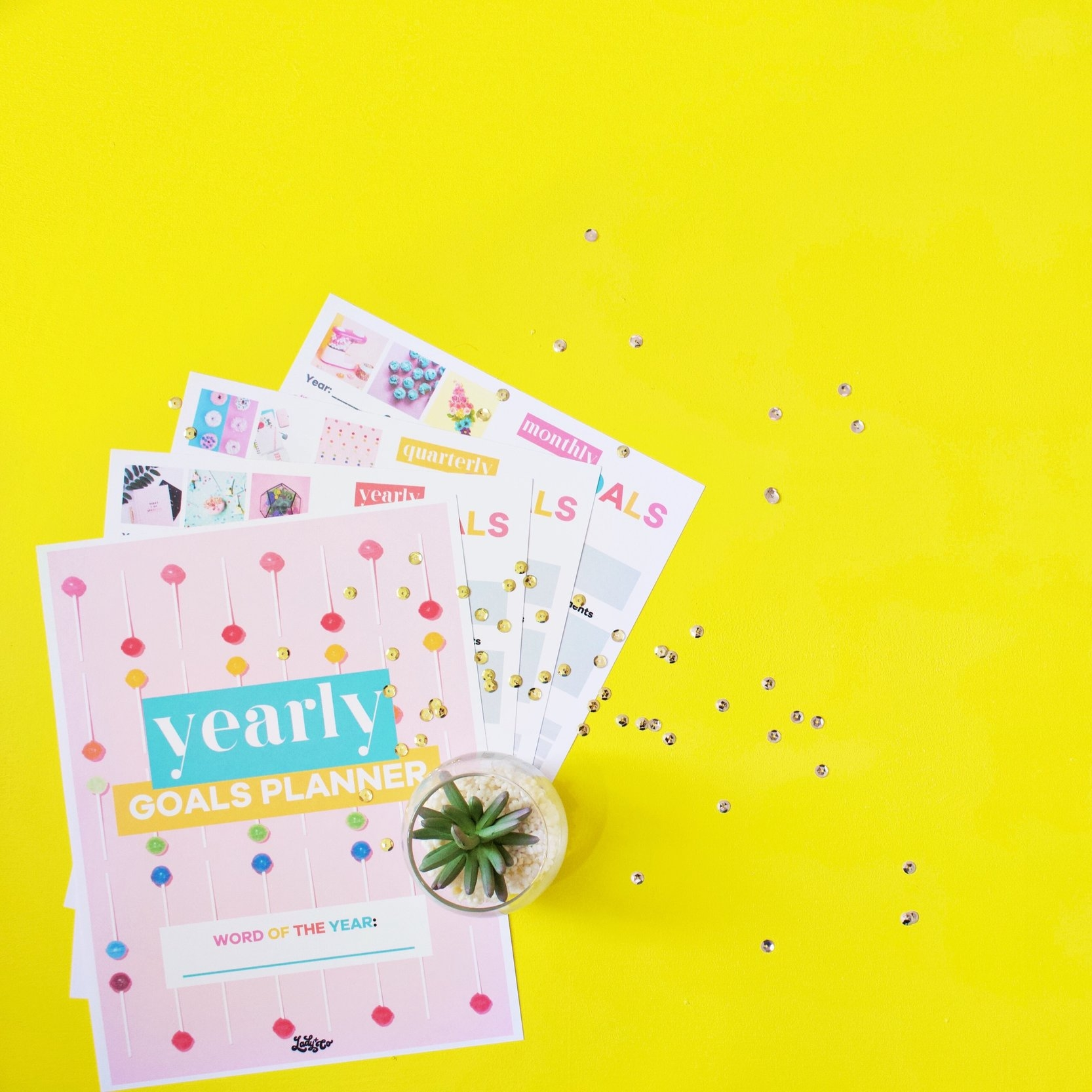 yearly goals planner | lady and company creative | brand coaching