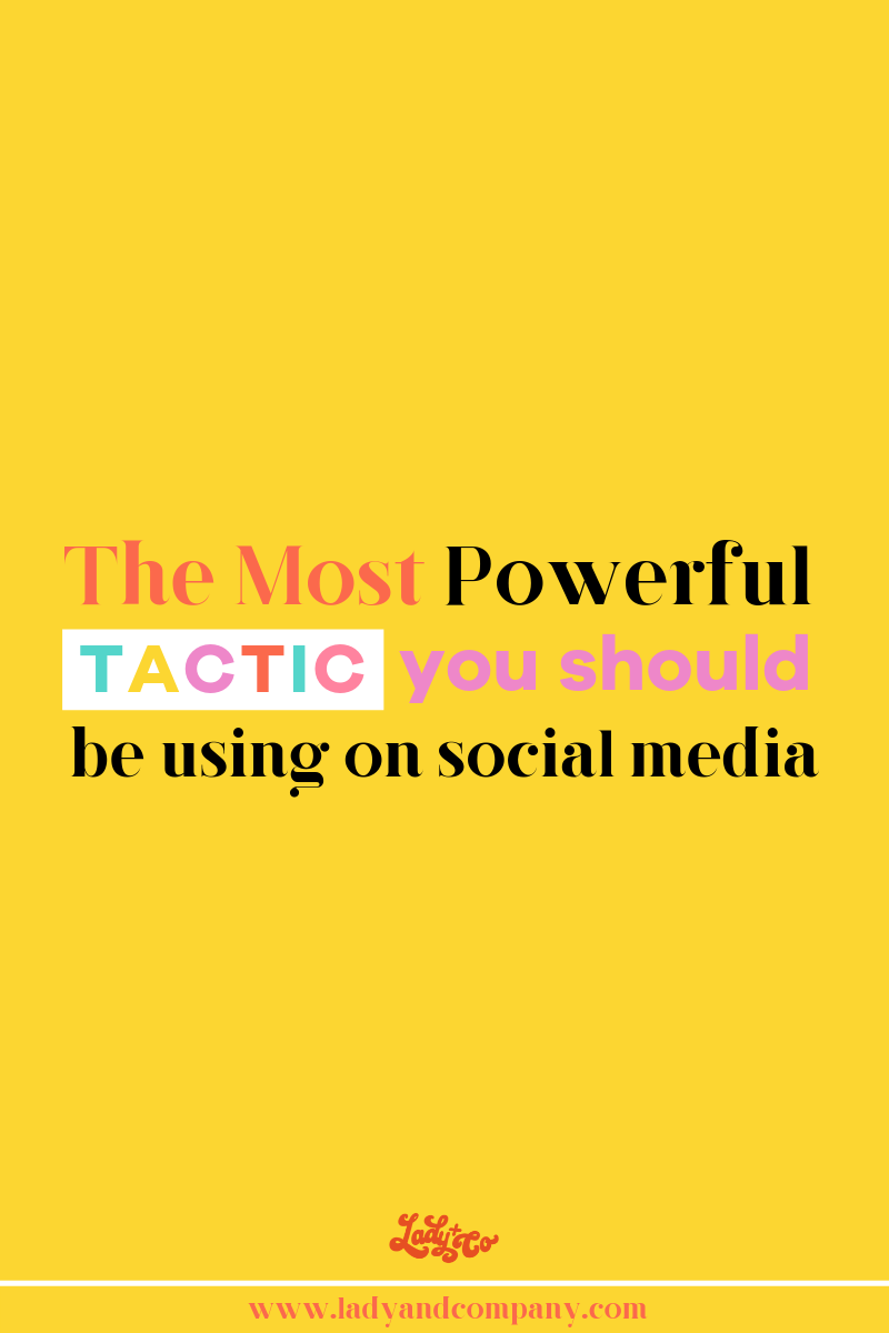 The Most Powerful Tactic You Should Be Using on Social Media | Everyone loves a good story. Your social media feed is an opportunity to tell your brand story. | Lady and Company Creative | Alex Lawless, Brand and Business Strategist | Post Author: Ashley Burnside | #socialmediatips #socialmediacontent #brandstory #brandstorytelling #socialmediamarketing