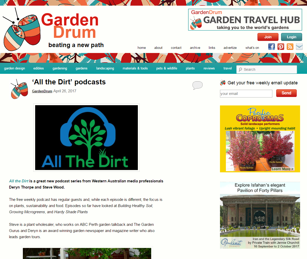 Find us on  Gardendrum.com