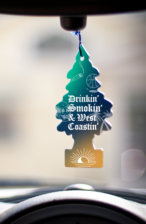 Branded air freshener drink coasters