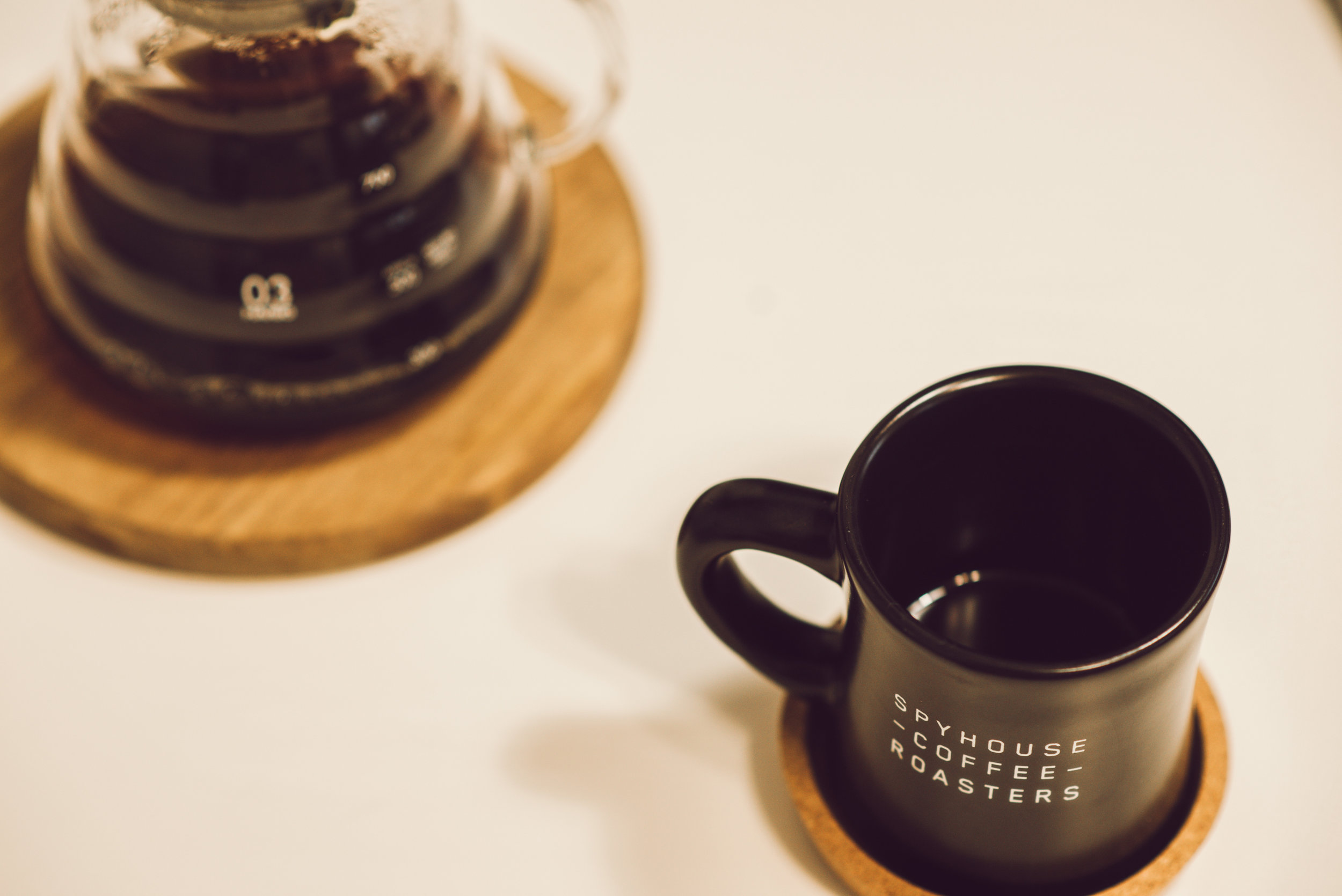 Homemade coffee in V60