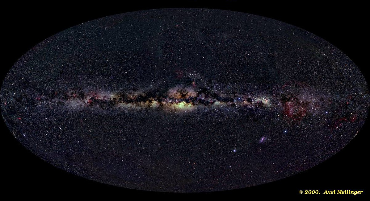 Picture of the Milky Way Galaxy as seen edge on.