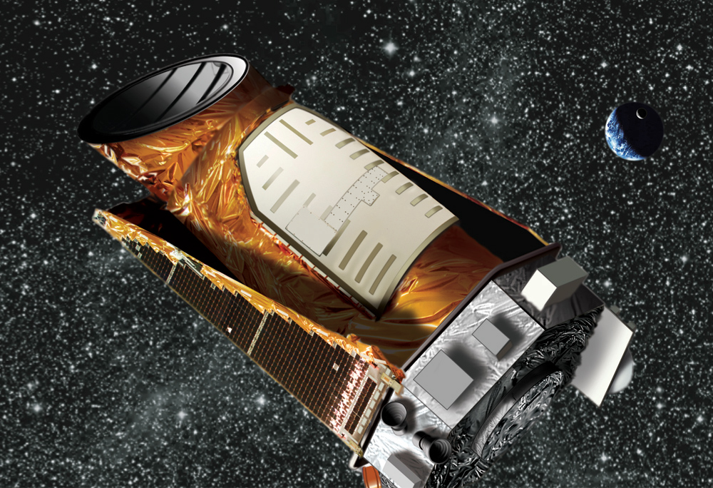 Artist's depiction of the Kepler space telescope.