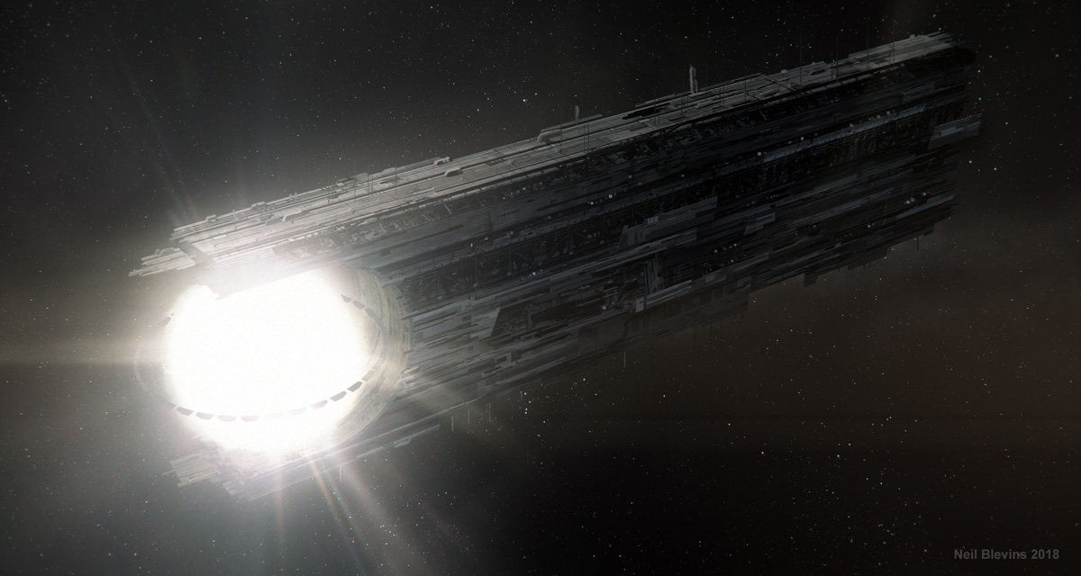 Artist's depiction of a star lifter. Artwork by Neil Blevins.