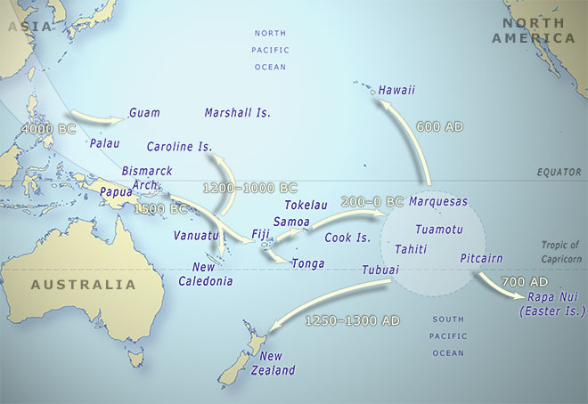 The map above shows the migration patterns and timeline of the Polynesians who traveled from Asia to America by hopping from one tiny archipelago to another. Our descendants who travel from the Earth to the exoplanet Proxima B might adopt an analogous strategy by hopping from one comet to another until they reach their final destination.  Image retrieved from:    https://teara.govt.nz/en/map/1449/map-of-pacific-migrations