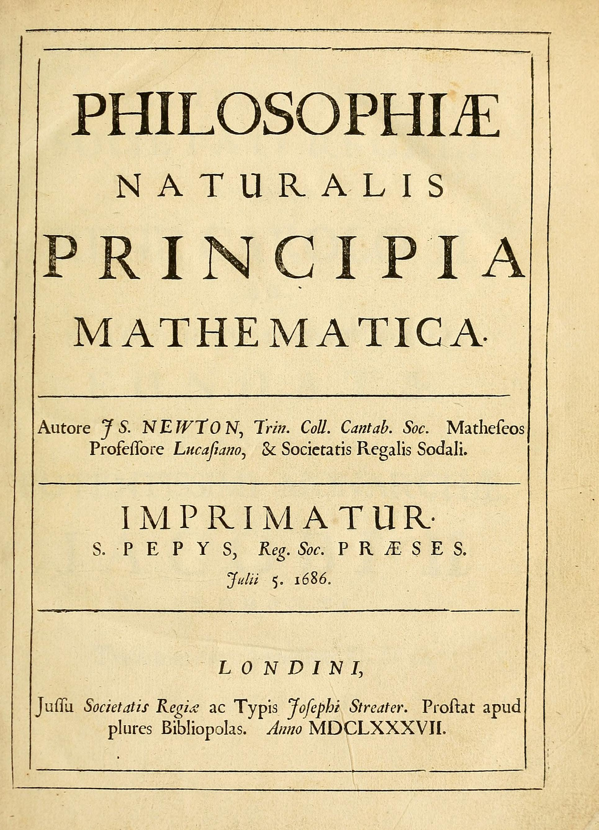"""""""The  Principia  states  Newton's laws of motion , forming the foundation of  classical mechanics ;  Newton's law of universal gravitation ; and a derivation of  Kepler's laws of planetary motion  (which  Kepler  first obtained  empirically ). The  Principia  is considered one of the most important works in the history of science.""""\(^{[5]}\)"""
