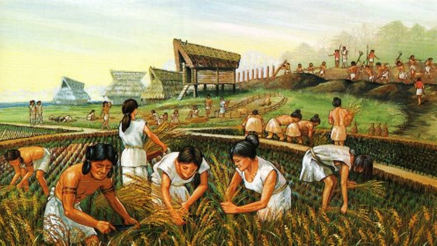 The  Neolithic Revolution  (which began, independently, in multiple different civilization 10 to 12 thousand years ago) occurred when, for the first time, we humans began to domesticate plants and animals.