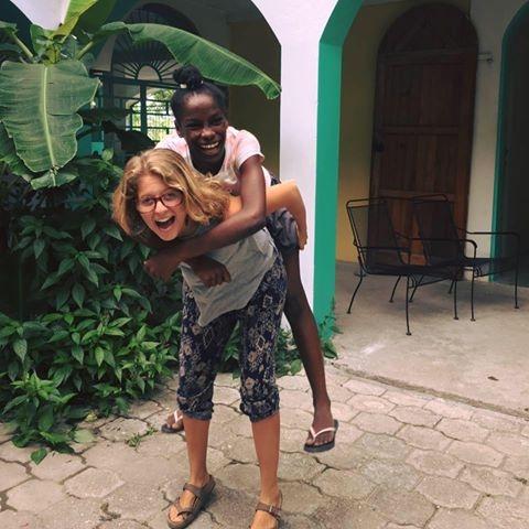 Emma  (Espwa Guest House) &  Florine  (Les Cayes)