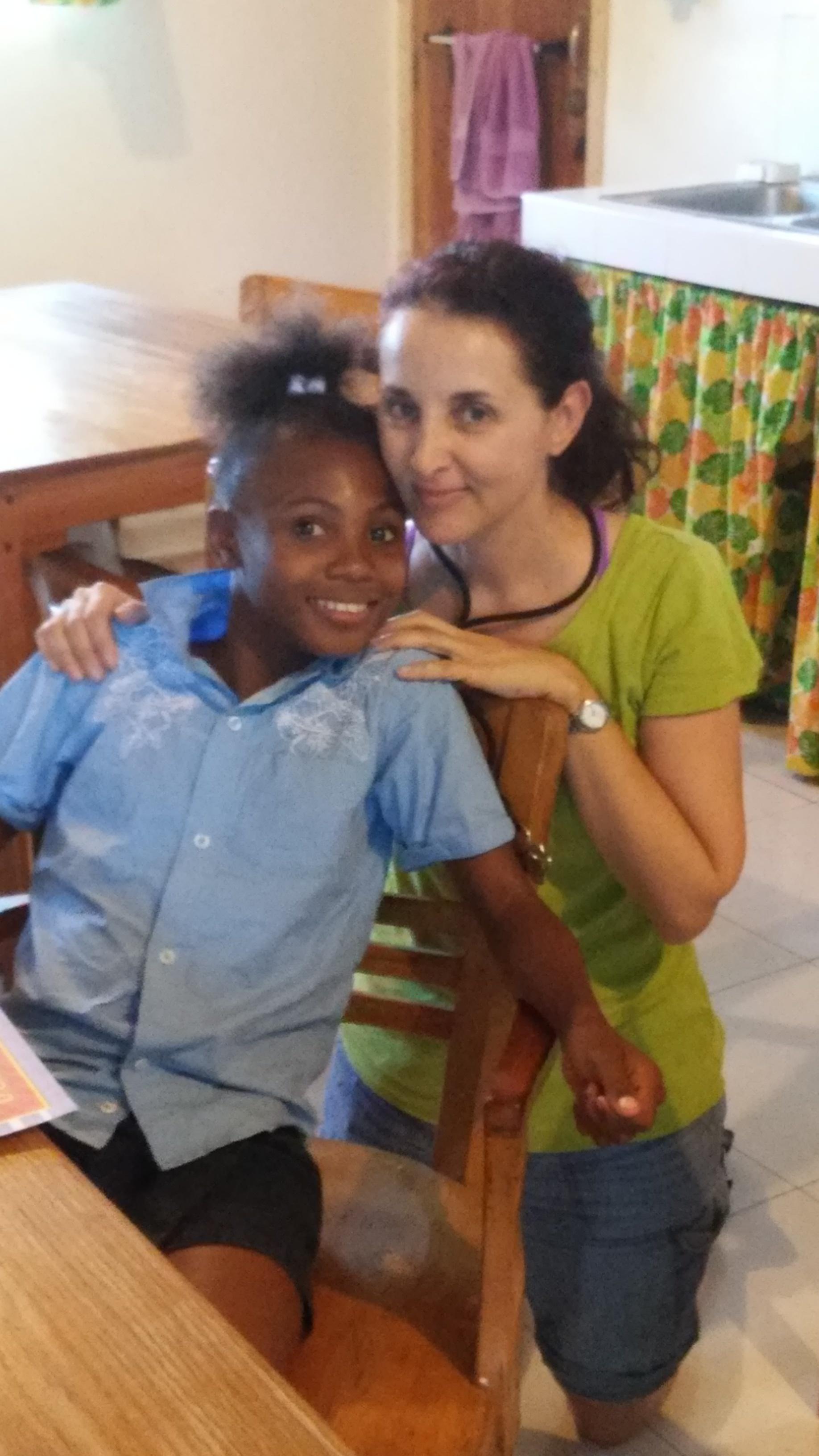 Maria Simeone  & Esthere  (Les Cayes)