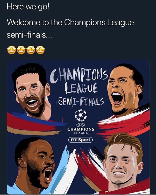Bit of a clanger here by BT Sport 😂 - tweet already deleted (photo credit: @s777dub)