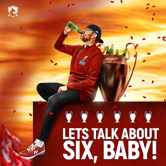 Let's talk about six, baby! (Credit: @dianqamajaya) #lfc #LFCParade #LiverpoolFC #ChampionsLeague #UCLFinal #winners #SixTimes