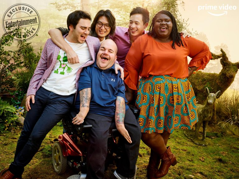Grant Rosenmeyer, Richard Wong, Asta Philpot, Hayden Szeto, and Gabourey Sidibe (Come As You Are)