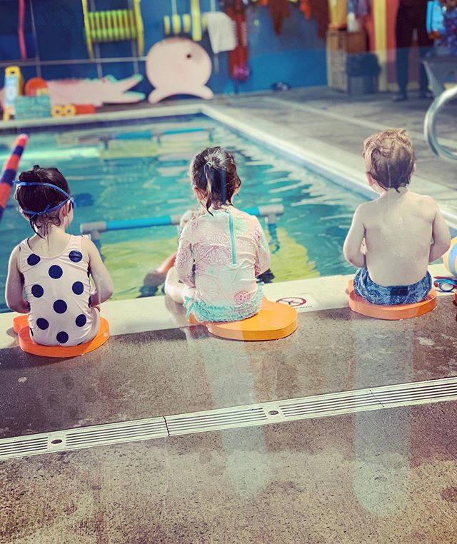 Only took 6 weeks to separate from me to the teacher in the pool. She is now smiling, laughing and showing her skills😂🤦🏼♀️ Swimming is a life lesson, just like learning to be careful when crossing the street. Everyone needs to be safe around the water.
