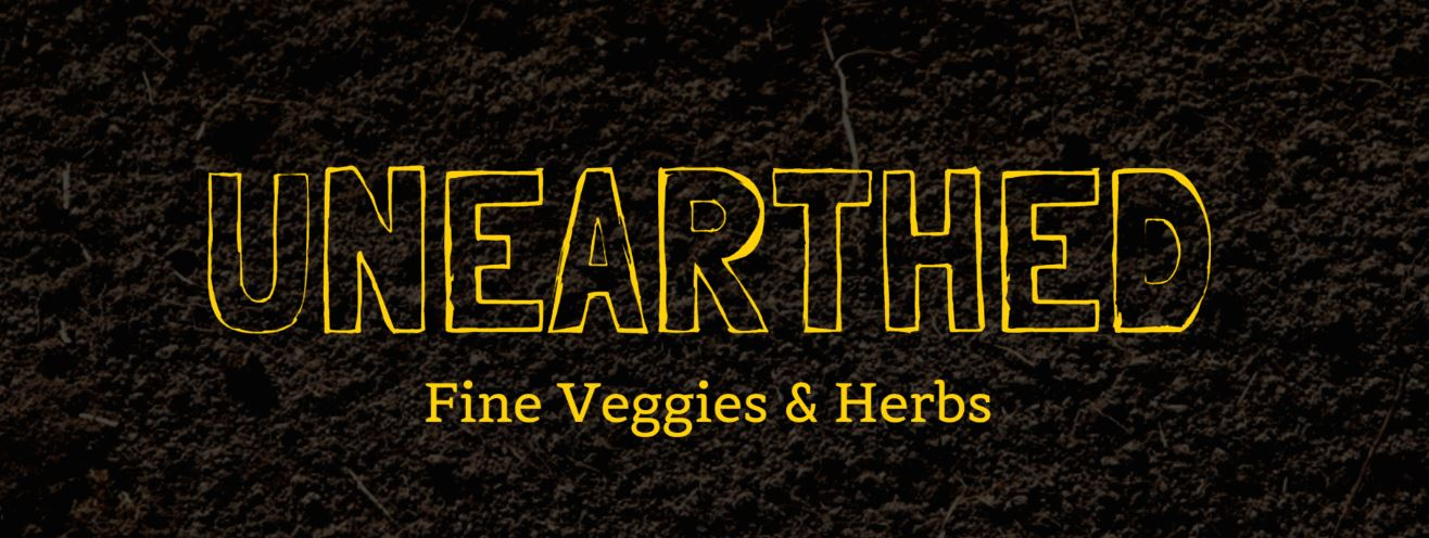 It's not our official logo--that's coming soon--but it's what you'll find for now at our new website: http://unearthedfarm.com