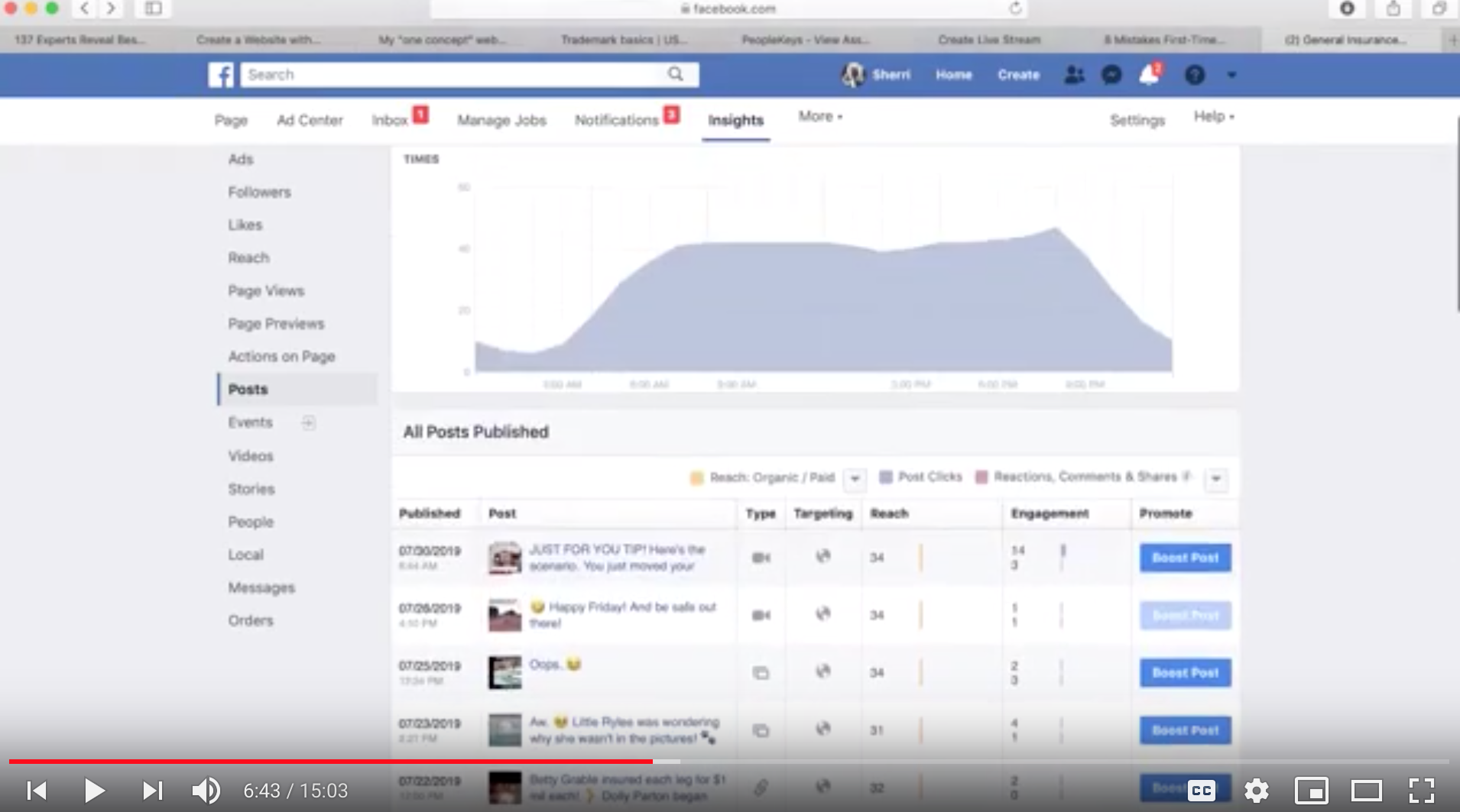 three easy ways to see what facebooks posts are working; how to tell when your fans are on facebook; how to watch competitors facebook pages