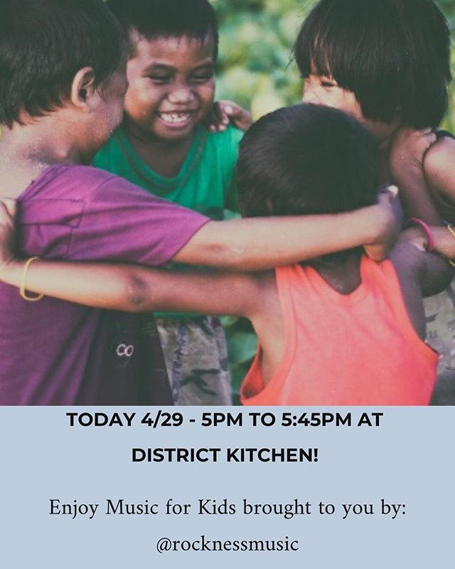 Come join us TONIGHT at District Kitchen for a FREE show, Music for Kids! By @rocknessmusic - special thanks to @jcfamilies! . . . . . #jerseycity #districtkitchen #harborsidejc #downtownjc #jerseycityfamilies #jerseycitykids #jerseycityevents #livemusic #waterfrontjc #families #free
