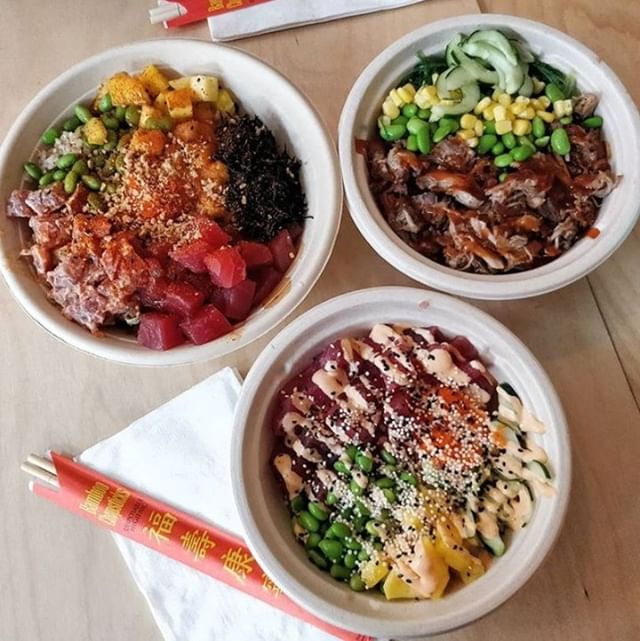 Whoever said 2 is better than 1 never had 3 @tidalpokeco bowls! 📷: @eatingwithkaos⁣