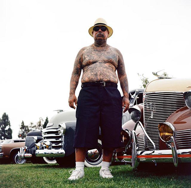 Tattoo Joe, Carson, Los Angeles, 2019 • • • • • • #120mm #35mm #photography #filmphotography #film #streetphotography #lensculture #rolleiflex #rollei #mediumformat #analog #analogphotography #blackandwhite #ektar100 #portra400 #cinestill #kodak #madewithkodak #losangeles #dtla #portrait #portraiture #latino #latinoamerica #lowrider #westcoastlowriders #newwork