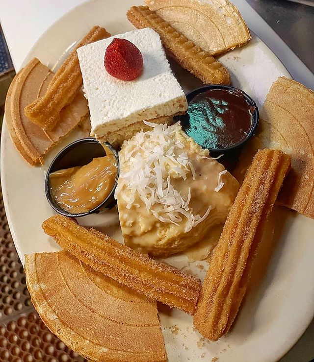 Friday means indulging in whatever you've been craving all week - like our Dessert Sampler 😏 Get a taste of our signature Tres Leches cake, Coconut Flan, Churros, and Obleas and let us know your favorites 🍰🍮 [pic by @jaymarvelous_nyc] #bogotalatinbistro #colombianfood #madeinbrooklyn