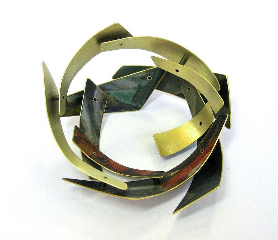 Ancestry    Brass, paint. 2014 8 L x 8 W x 3.5 H cm