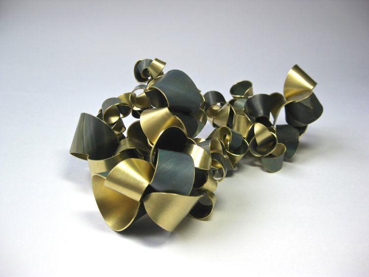 Encapsulated   Brass, paint 2013 19 L x 10 W x 7.5 H cm