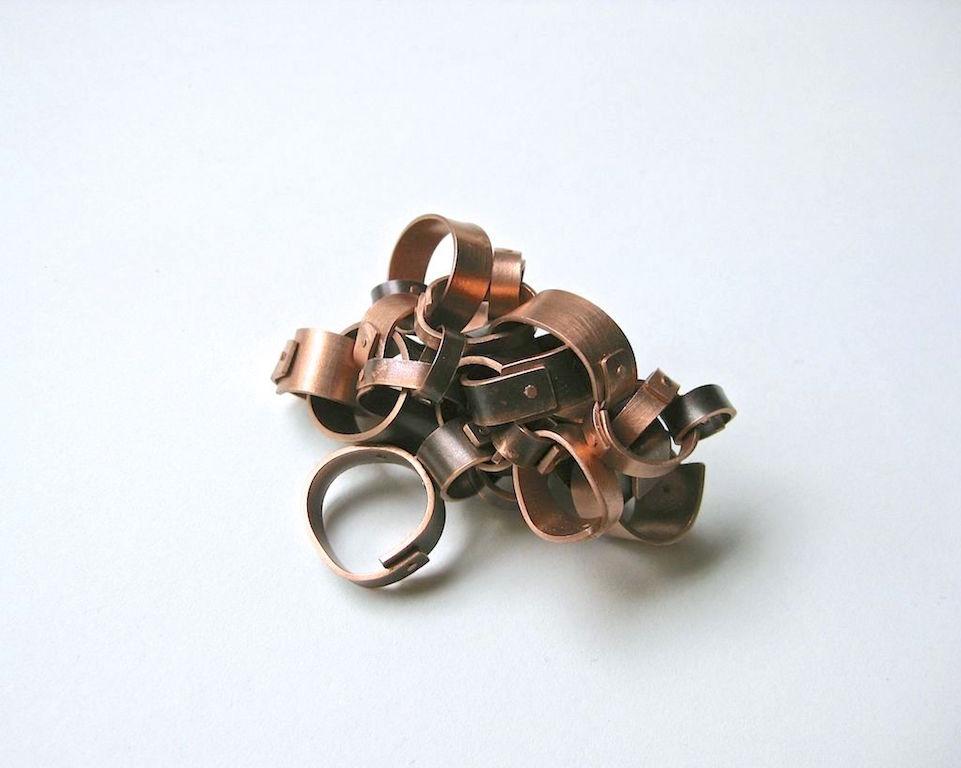 Uncertainty   Copper, patina, 2013. 5 L x 6.5 W x 5 H cm