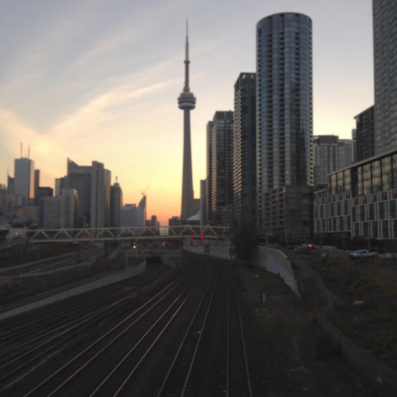 Sunrise in downtown Toronto, Fall 2015.