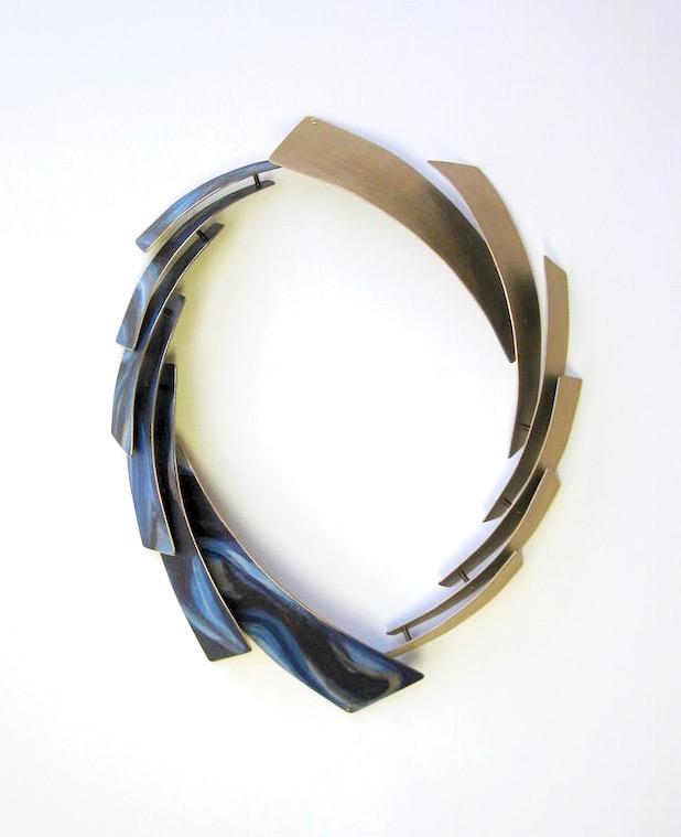 """Eternity"" bronze, brass, paint, 2015."