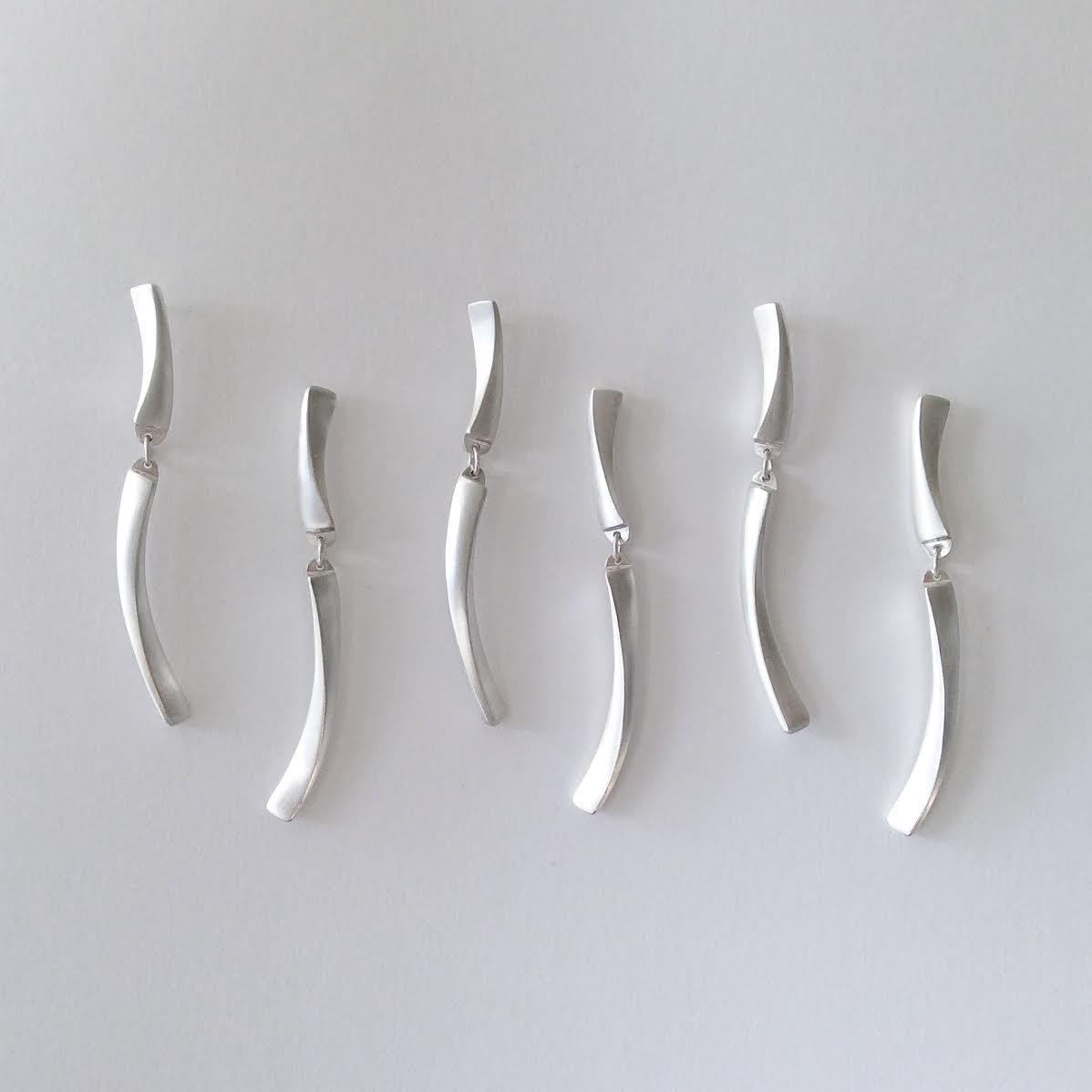 Sunbeam earrings, sterling silver, 2017.