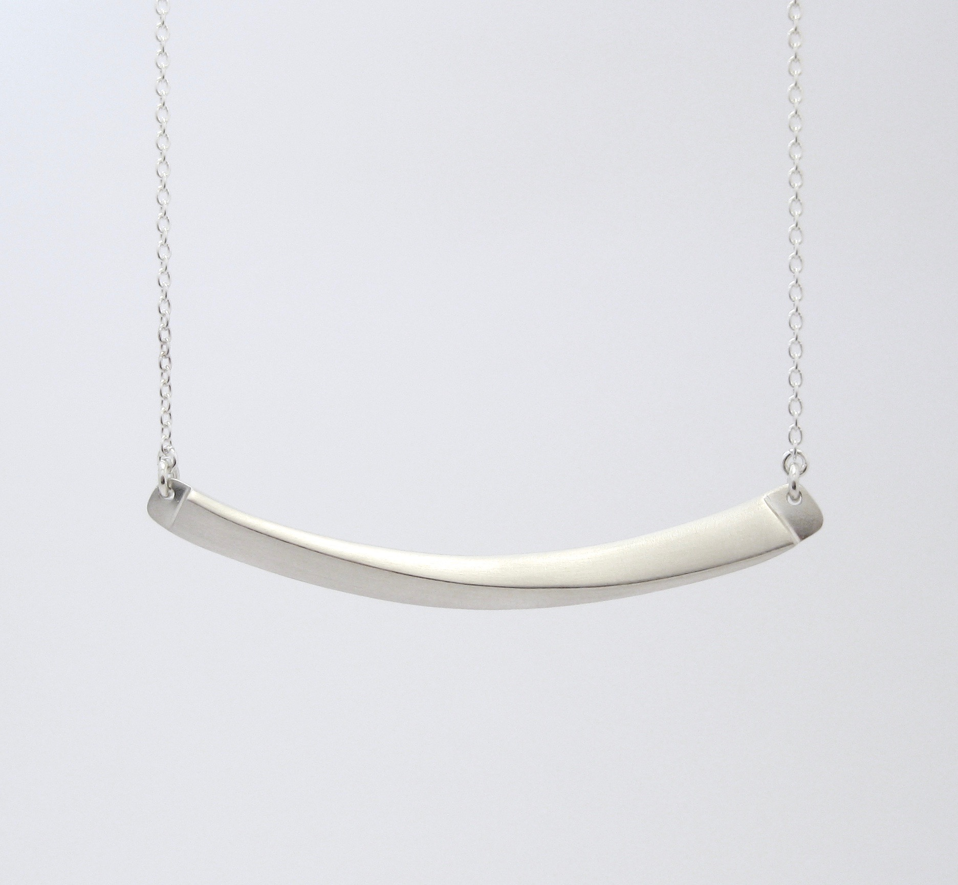 Horizon Line Necklace, sterling silver, 2016