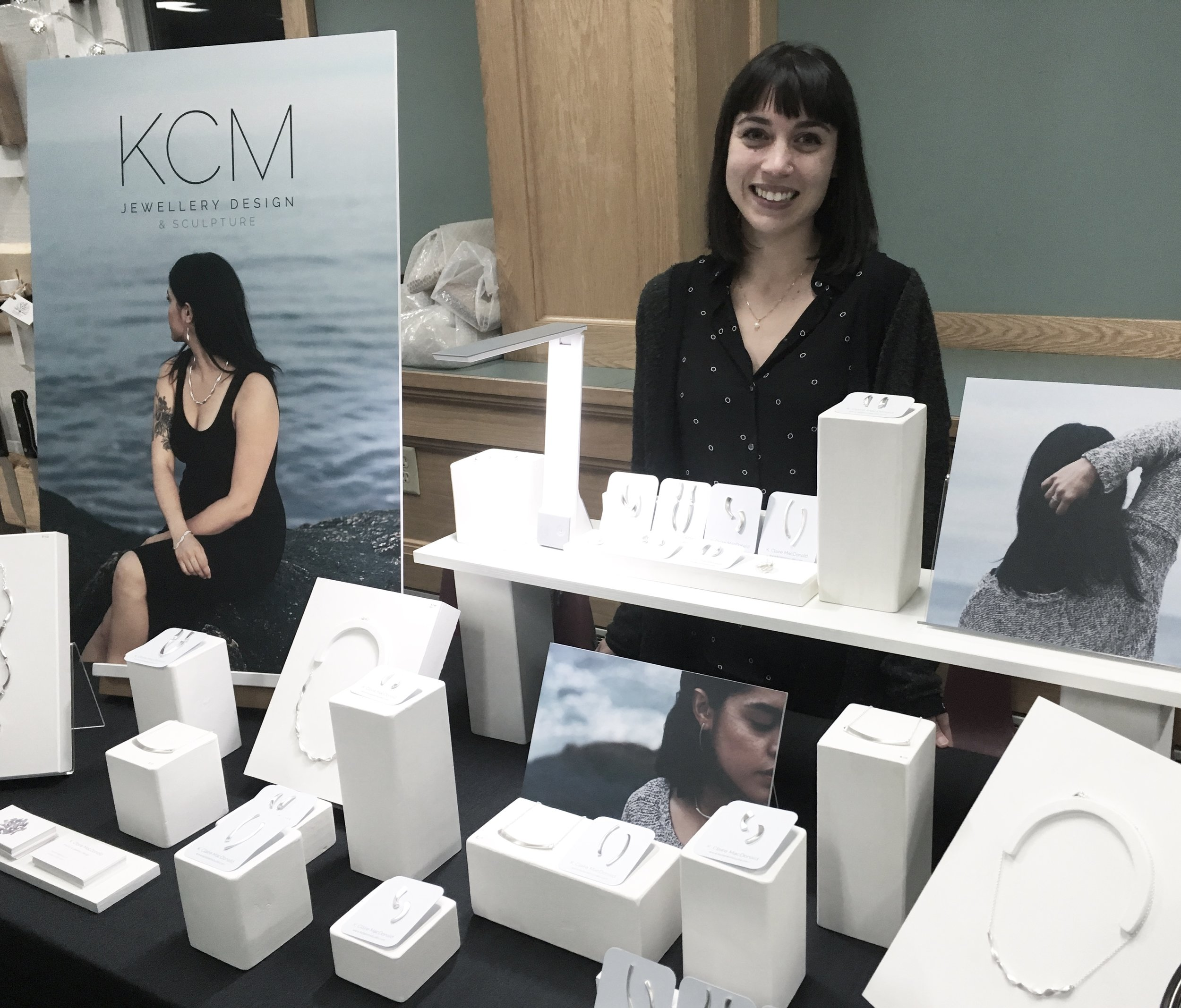 My booth at the Dartmouth Makers Winter Market.