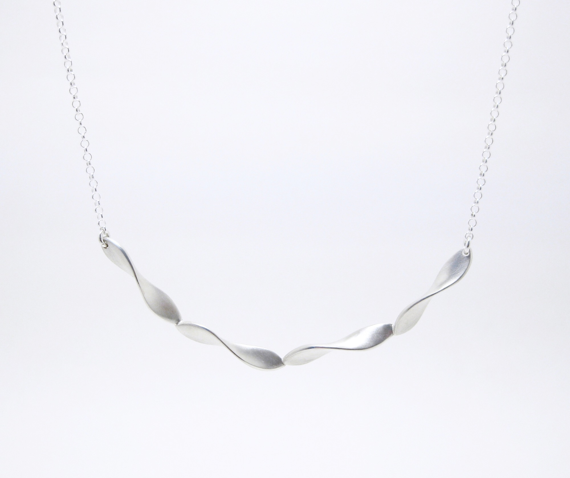 Shimmer Necklace (small), sterling silver.